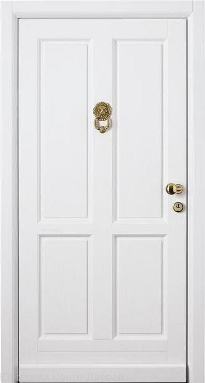 входные железные двери белого цвета